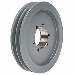 V-Belt Pulley, QD, 8.95 In OD, 2 Groove