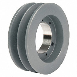 V-Belt Pulley, QD, 3.35 In OD, 2 Groove