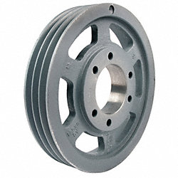 V-Belt Pulley, QD, 21.2 In OD, 3 Groove