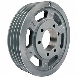 V-Belt Pulley, QD, 28 In OD, 4 Groove