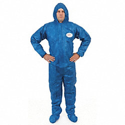 Hooded Viroguard(R), Blue, Boots, XL, PK 25