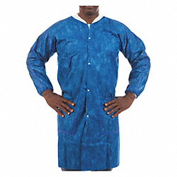 Lab Coat, 2XL, Blue, 40-1/2 In. L, PK 50