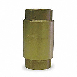 Spring Check Valve, 1 In, FNPT, Brass