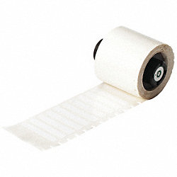 Label Cartridge, Wht, Polyester, 1-1/2 In W