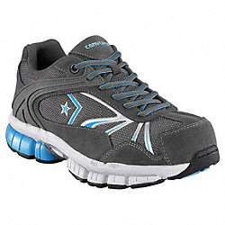Athletic Work Shoe, Comp, Wmn, 7.5W, Gry, 1PR