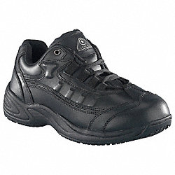 Athletic Work Shoes, Mens, 10-1/2, Blk, 1PR