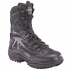 Tactical Boots, Pln, Mens, 10W, Black, 1PR
