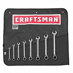 Reversible Wrench Set, SAE, 12 pt., 8 PC