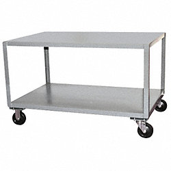 SS Transfer Cart, 30x48x24 In