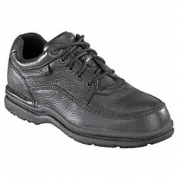 Work Shoes, Stl, Mn, 10.5W, Blk, 1PR