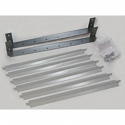 Louver Set, Gray, 13-1/8 In. H, Vertical