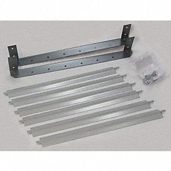 Louver Set, Gray, 13-1/8 In. H, Steel