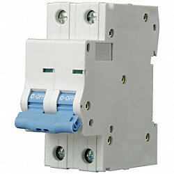 Mini Circuit Breaker, C Curve, 2P, 4A, 480V