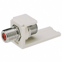 Mini-Com F-Type Coupler, Ivory