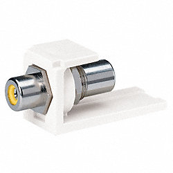 RCA Coupler, Mini-Com, Off White, Yl Insert