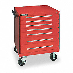 Rolling Tool Cabinet, 30 In W, 7 Drawer
