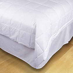 Blanket, Twin, 66x90 In., White, PK4