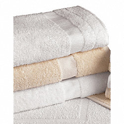 Bath Towel, Ecru, 24x50, PK 12