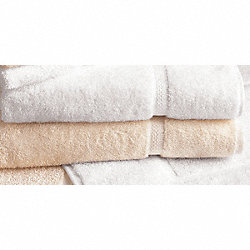 Bath Sheet Towel, 30 x 60 In, White, PK 12