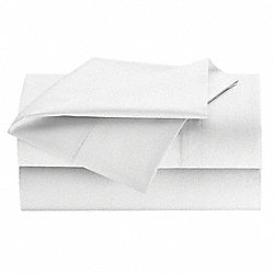 Flat Sheet, Twin, White, PK 24