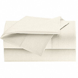 Flat Sheet, Full, Bone, PK 24