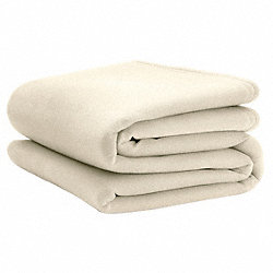 Blanket, Full, 80x90 In., Ivory, Pk4