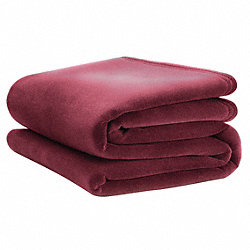 Blanket, King, 108x90 In., Cranberry, PK4