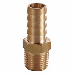Hose Barb, 3/8 In, 1/2 MNPT, Brass