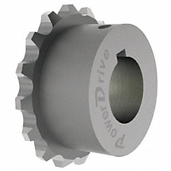 Chain Coupling Sprocket, Bore 1 1/4 In