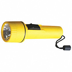 Industrial Flashlight, D, Incandescent, Ylw
