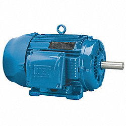Mtr, 3 Ph, 3 HP, 3510, 208-230/460V, Eff 86.5