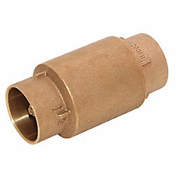 Check Valve, 2 In, Solder, Bronze