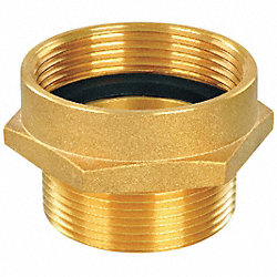 Hex Nipple, 1-1/2 FNPT x 1-1/2 MNST, Brass