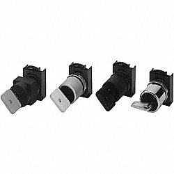 Selector Switch, 22mm, 3Pos, Key Out Left