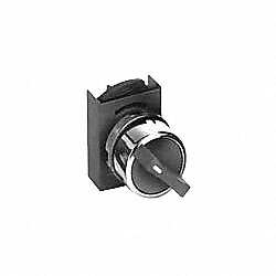 Selector Switch, 22mm, 3Pos, Momen, Blk Knob