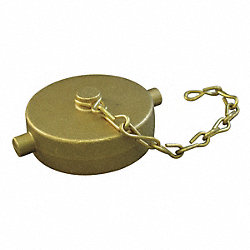 Fire Hose Cap, 2-1/2 In.NH, Brass