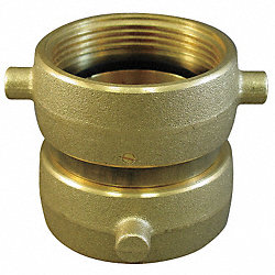 Fire Hose Adapter, 1-1/2 In NH SW, Brass