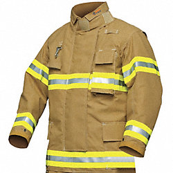 Turnout Coat, Gold, L, PBI/Kevlar