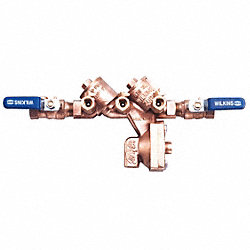 Backflow Preventer, Size 1/2 In, Bronze