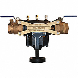 Backflow Preventer, Size 2 In, Bronze