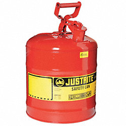 Type I Safety Can, 5 gal., Red, 16-7/8In H