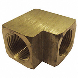 Female Elbow, Brass, 90Deg, , 3/8 In, PK 10