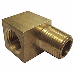 Street Elbow, Brass, 90Deg, 1/4 In, PK 10