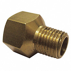 Reducer Adapter, Brass, 3/8 x 1/4, PK10