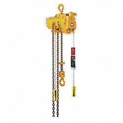 Air Chain Hoist, 1100 lb. Cap., 10 ft. Lft