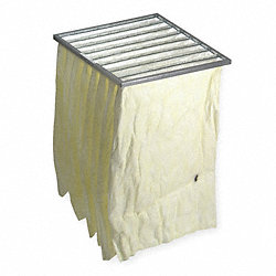 Pocket Air Filter, Synthetic, 24x24x18In.