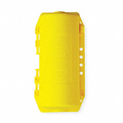 Plug Lockout, Yellow, 3/8In Shackle Dia.