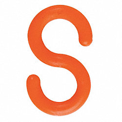 S-Hook, Orange, 3 in, PK10