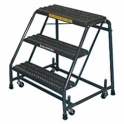 Rolling Ladder, Steel, 38 In.H