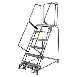 Rolling Ladder, Steel, 60 In.H
